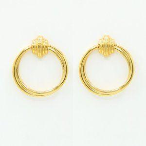 Kayla 18K Gold Plated Hoop Earrings S925 Ear Post